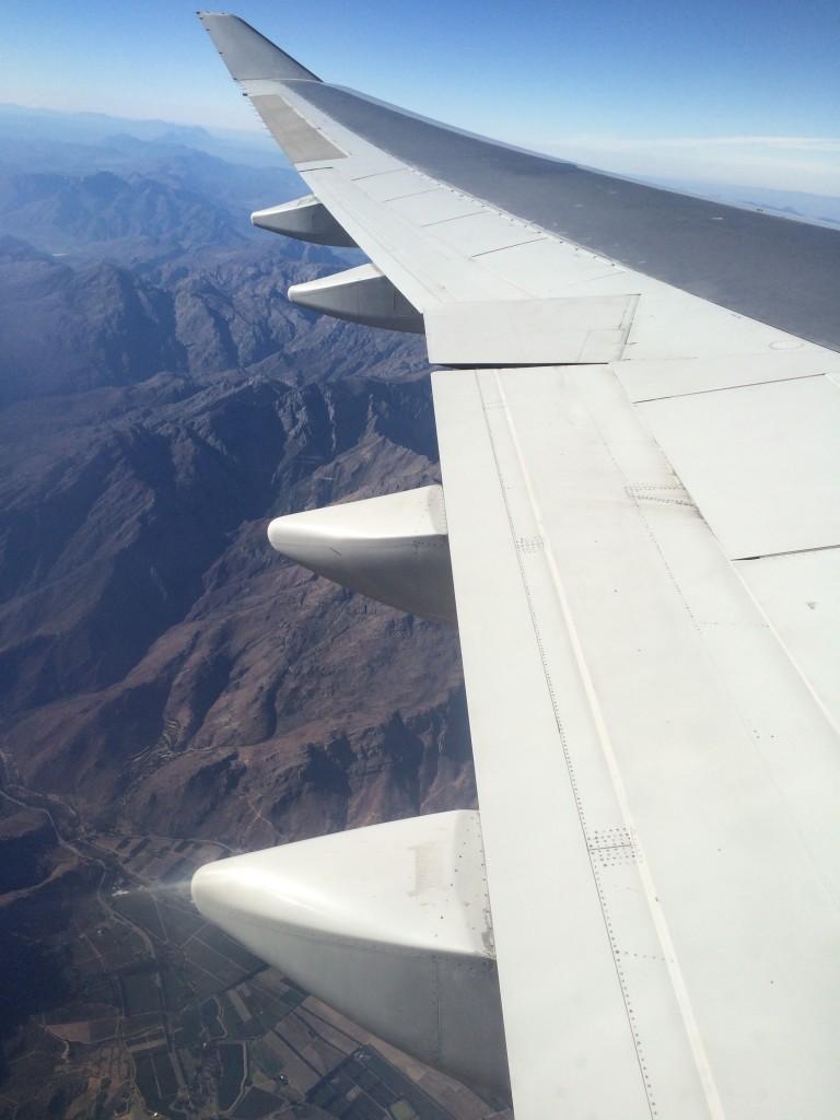 Flug über Afrika