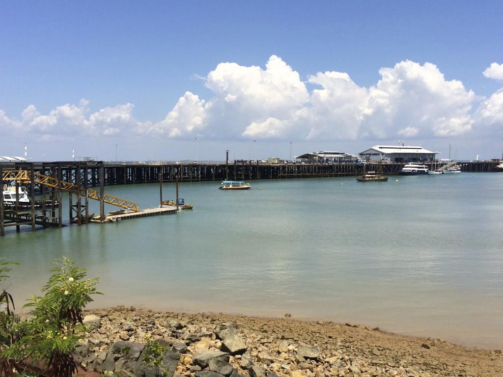 Die heutige Wharf.
