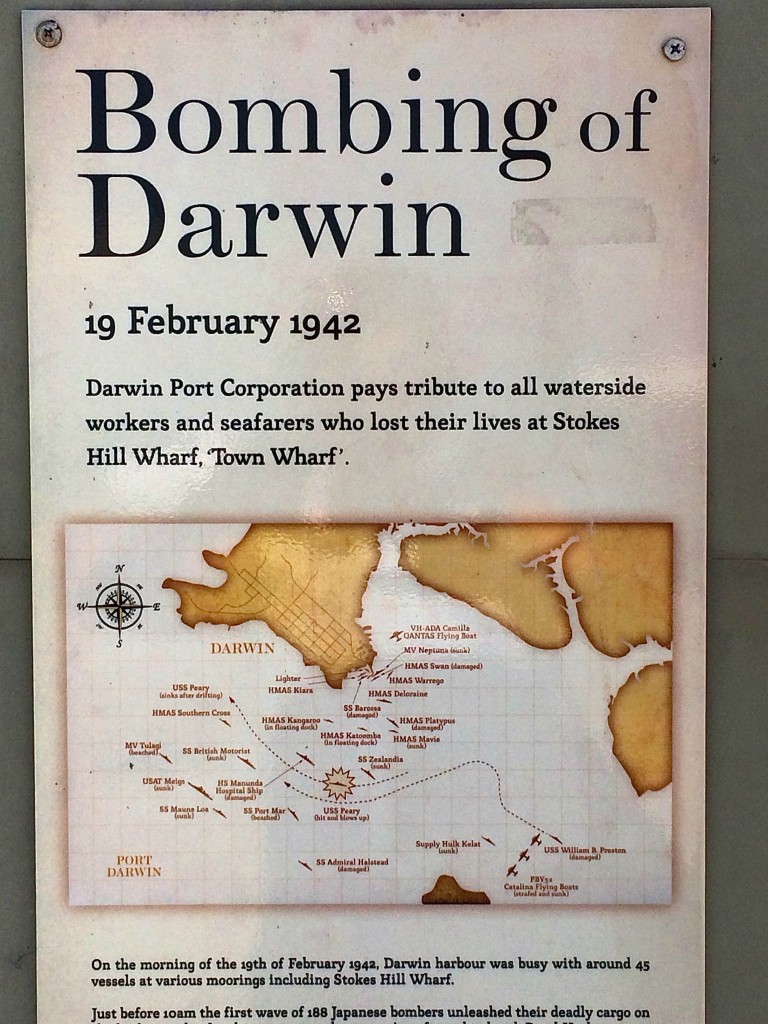 Überall in Darwin begegnet man diesen Hinweisen.